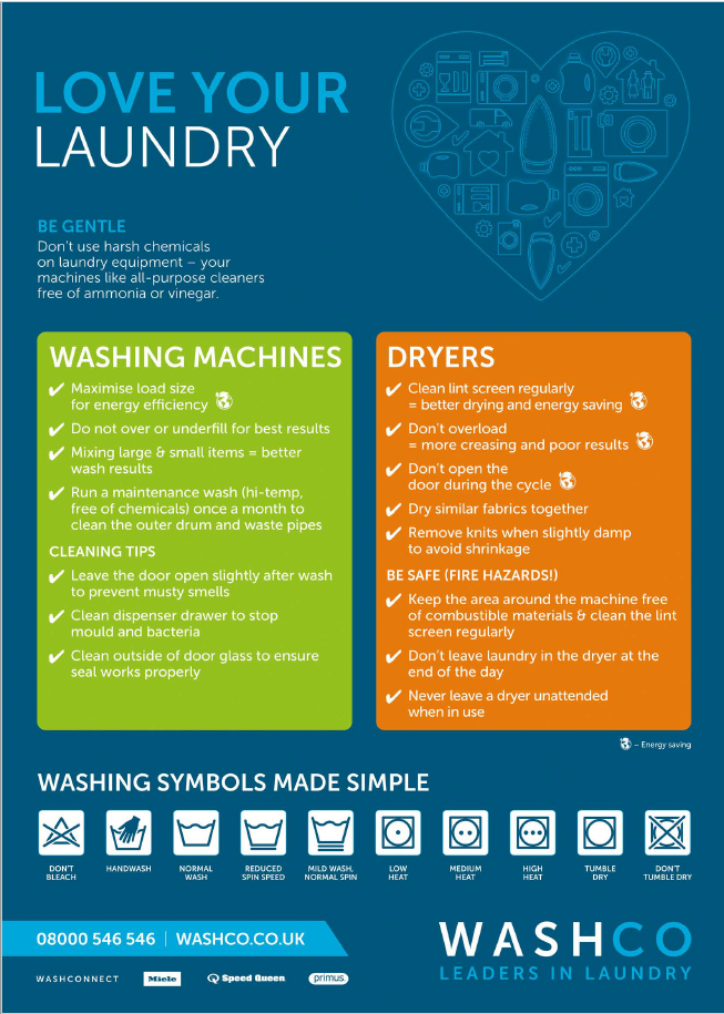 Love your laundry poster